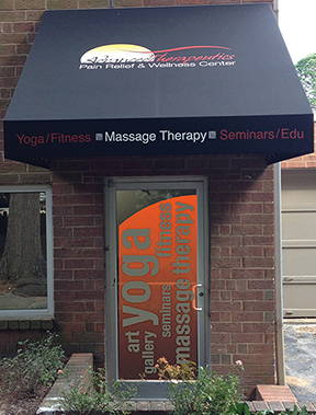 Advanced Therapeutics and Yoga Warrior Studio Entrance