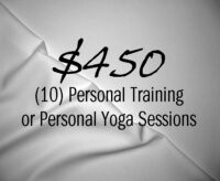 10 Personal Training or Personal Yoga